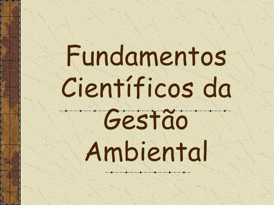 Fundamentos Científicos da Gestão Ambiental