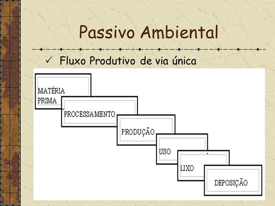 Passivo Ambiental Fluxo Produtivo de via única