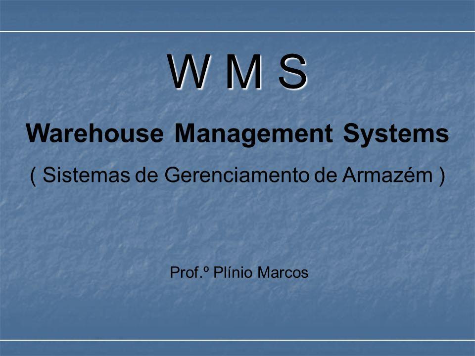 W M S Warehouse Management Systems ( Sistemas de Gerenciamento de Armazém ) Prof.º Plínio Marcos