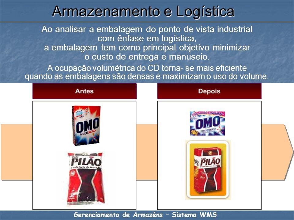 Ao analisar a embalagem do ponto de vista industrial com ênfase em logística, a embalagem tem como principal objetivo minimizar o custo de entrega e m