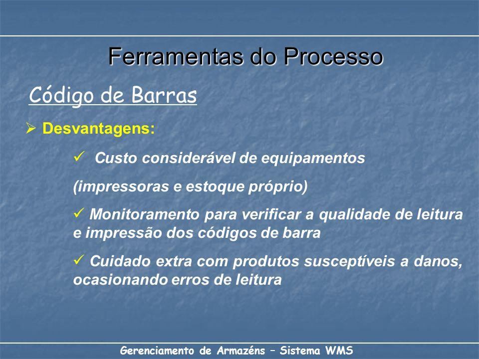 Desvantagens: Custo considerável de equipamentos (impressoras e estoque próprio) Monitoramento para verificar a qualidade de leitura e impressão dos c