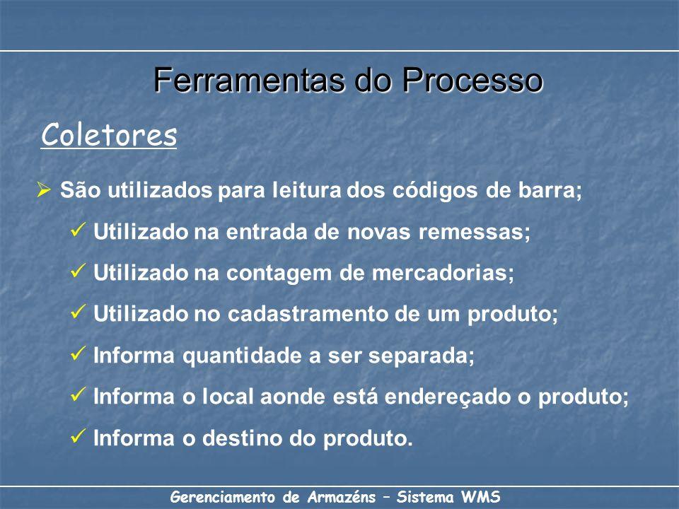 São utilizados para leitura dos códigos de barra; Utilizado na entrada de novas remessas; Utilizado na contagem de mercadorias; Utilizado no cadastram