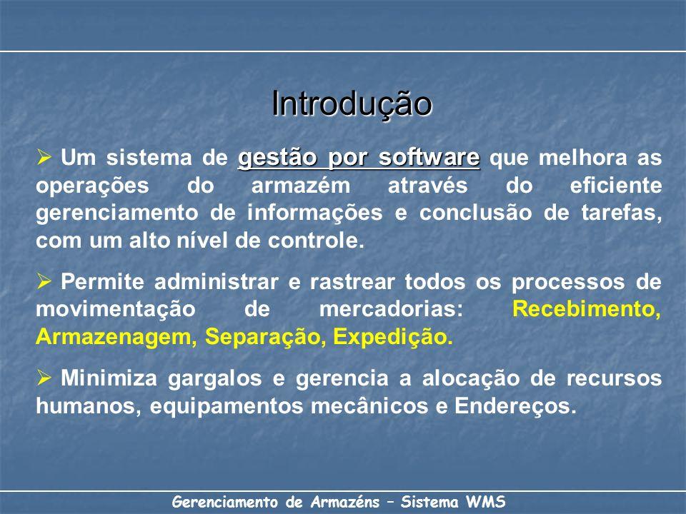 Introdução gestão por software Um sistema de gestão por software que melhora as operações do armazém através do eficiente gerenciamento de informações