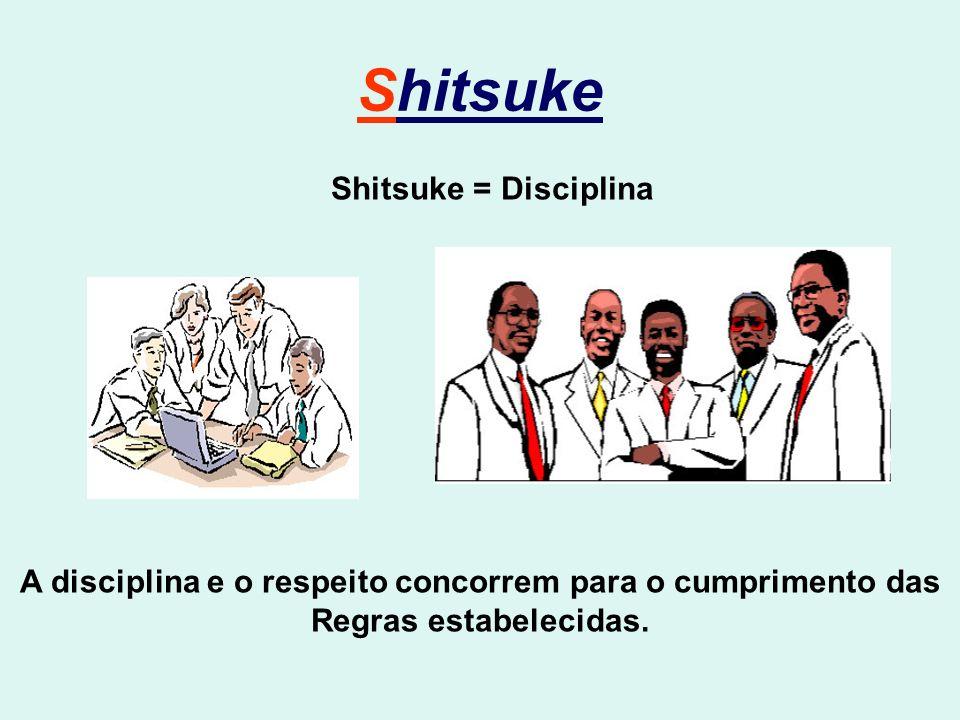 Shitsuke Shitsuke = Disciplina A disciplina e o respeito concorrem para o cumprimento das Regras estabelecidas.