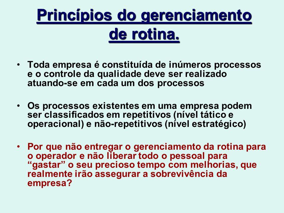 Princípios do gerenciamento de rotina.