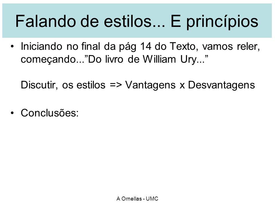 A Ornellas - UMC Falando de estilos...