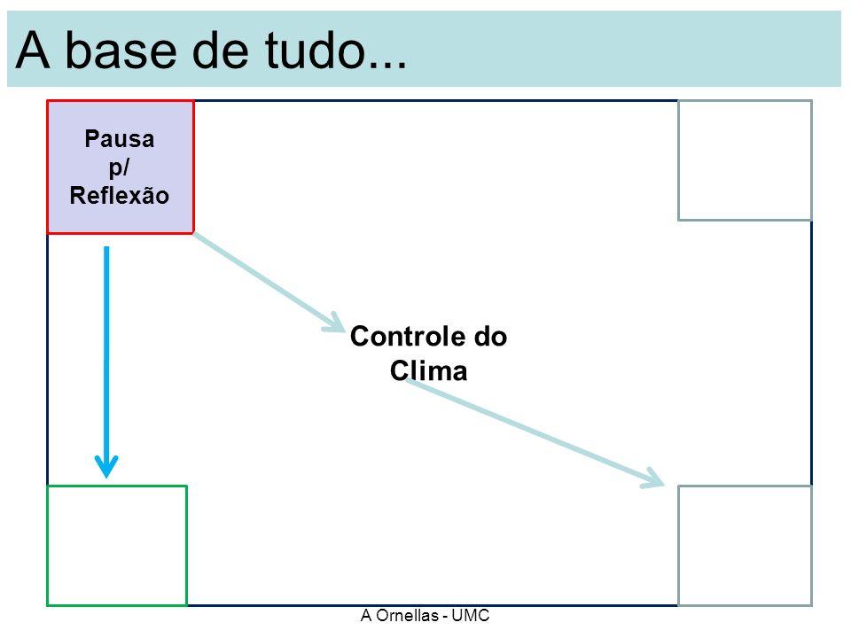 Em grupo: O que vc entende por pausa p/ reflexão? E...por controle do clima ? A Ornellas - UMC