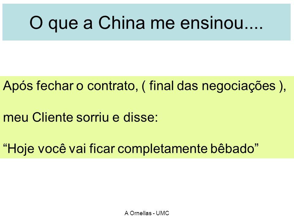 A Ornellas - UMC O que a China me ensinou....