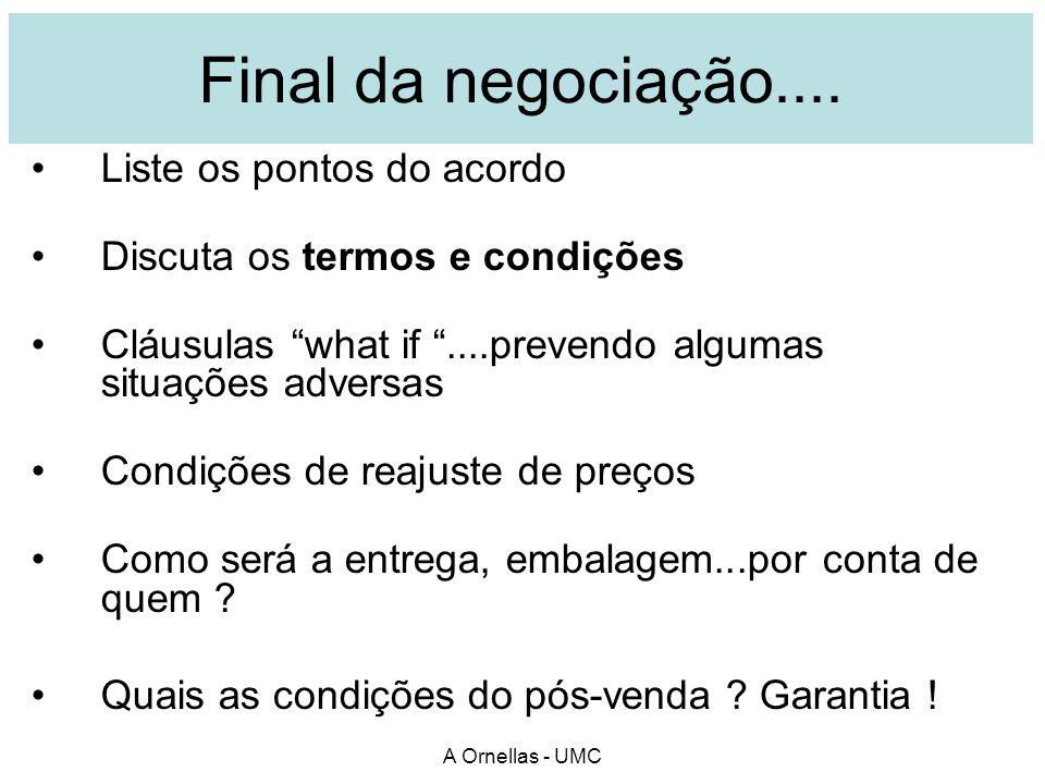 Jornal Os acertos finais para o Fechamento. A Ornellas - UMC