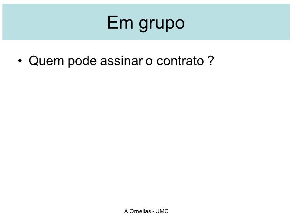 Jornal Suas conclusões: quem pode assinar o contrato. A Ornellas - UMC