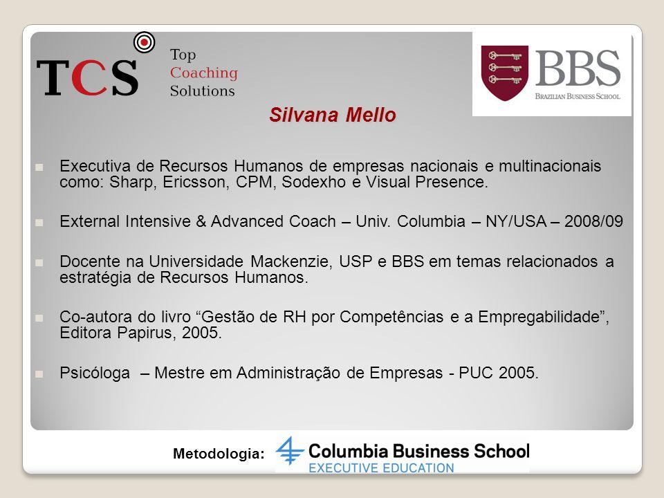 Executiva de Recursos Humanos de empresas nacionais e multinacionais como: Sharp, Ericsson, CPM, Sodexho e Visual Presence. External Intensive & Advan
