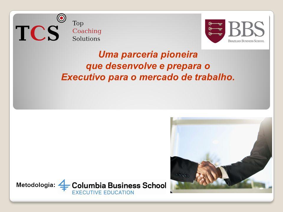 Uma parceria pioneira que desenvolve e prepara o Executivo para o mercado de trabalho. Metodologia: