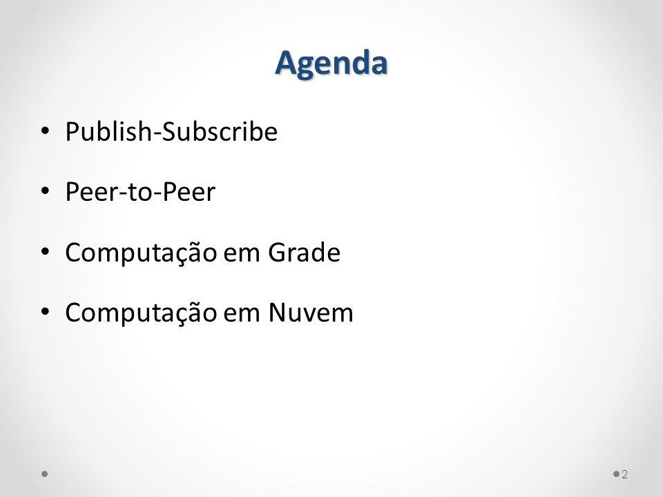 Agenda Publish-Subscribe Peer-to-Peer Computação em Grade Computação em Nuvem 2
