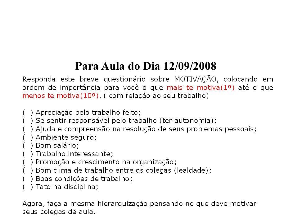 Para Aula do Dia 12/09/2008