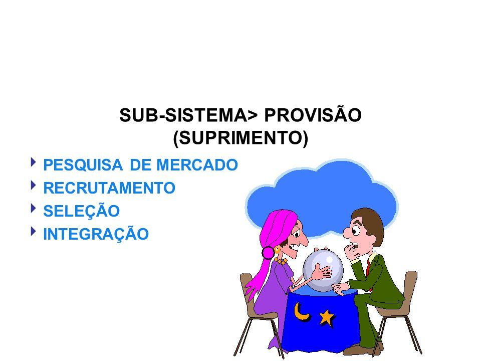 SUB-SISTEMA> PROVISÃO (SUPRIMENTO) PESQUISA DE MERCADO RECRUTAMENTO SELEÇÃO INTEGRAÇÃO
