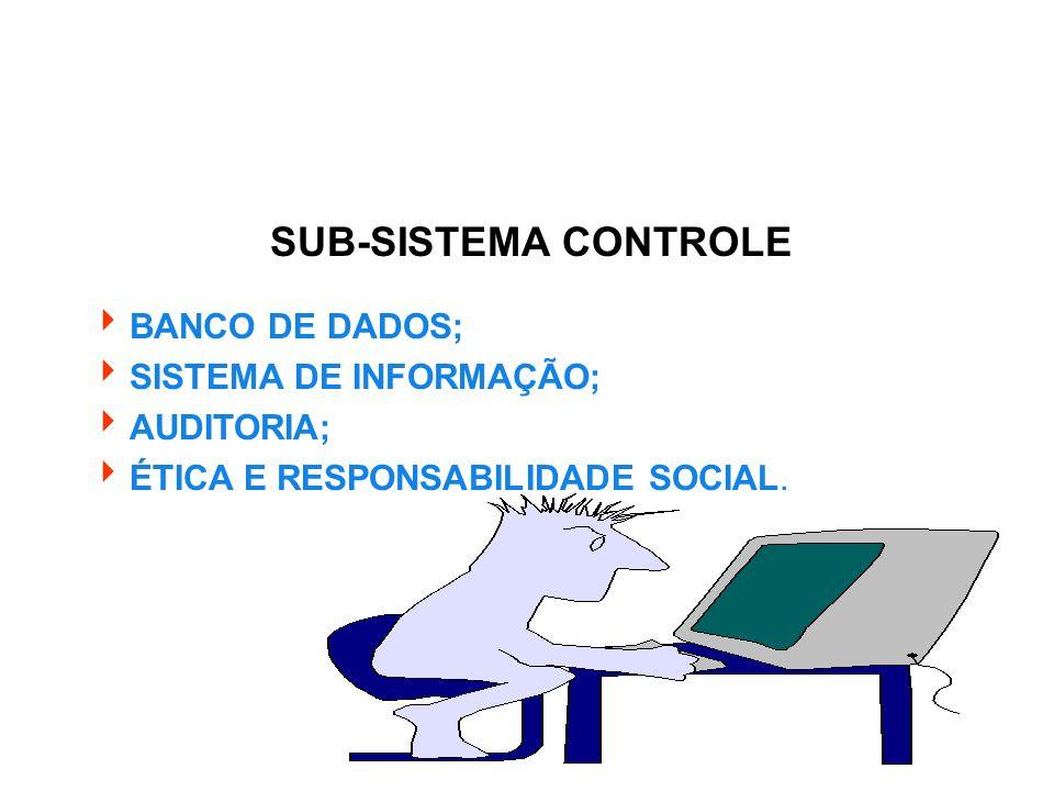 SUB-SISTEMA CONTROLE BANCO DE DADOS; SISTEMA DE INFORMAÇÃO; AUDITORIA; ÉTICA E RESPONSABILIDADE SOCIAL.