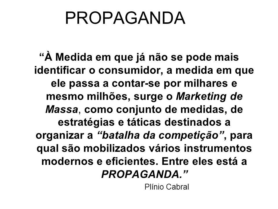 MIX DA PROMOÇÃO Propaganda: Qualquer forma paga de apresentação impessoal e promoção de idéias, bens ou serviços por um patrocinador identificado. Ven