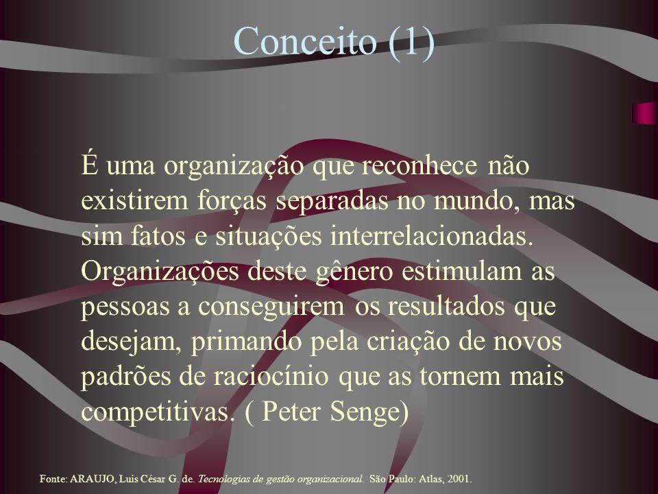 Conceito (1) É uma organização que reconhece não existirem forças separadas no mundo, mas sim fatos e situações interrelacionadas. Organizações deste