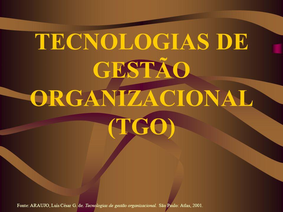 Terceirização (Outsourcing): Foco nos Produtos e nos Serviços Fonte: ARAUJO, Luis César G.