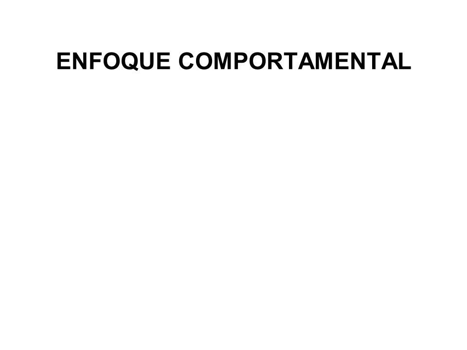 ENFOQUE COMPORTAMENTAL