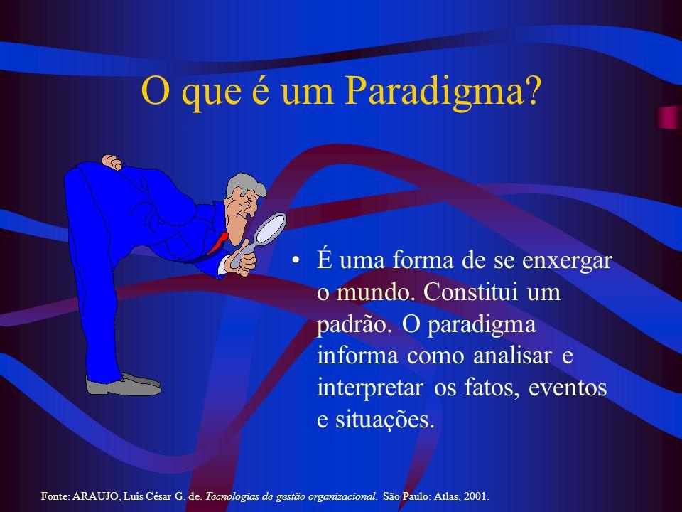 Benefício e Malefício dos Paradigmas Benefício: Constitui uma espécie de filtro mental que nos permite administrar o excesso de informações da realidade que nos cerca.