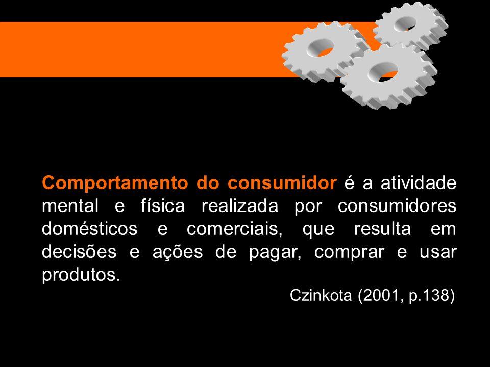 Comportamento do consumidor é a atividade mental e física realizada por consumidores domésticos e comerciais, que resulta em decisões e ações de pagar