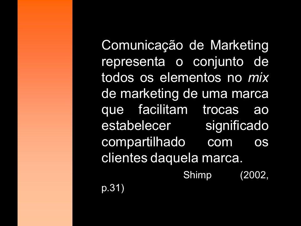 O mix de Comunicação refere-se a um grupo de ferramentas de comunicação utilizada pelas organizações com a finalidade de se comunicar diretamente com o mercado-alvo.
