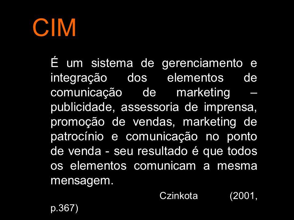 O processo do CIM requer um estudo cuidadoso dos padrões de uso de comunicação dos clientes e de suas necessidades de informações e só então determina a melhor maneira de comunicação com os clientes.