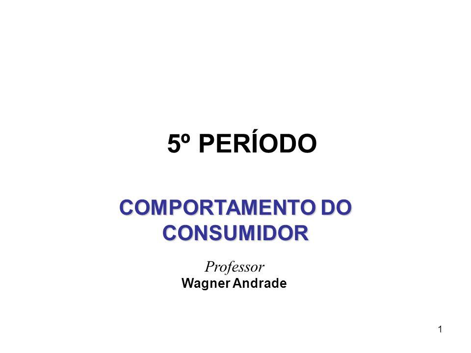 1 Professor Wagner Andrade COMPORTAMENTO DO CONSUMIDOR 5º PERÍODO