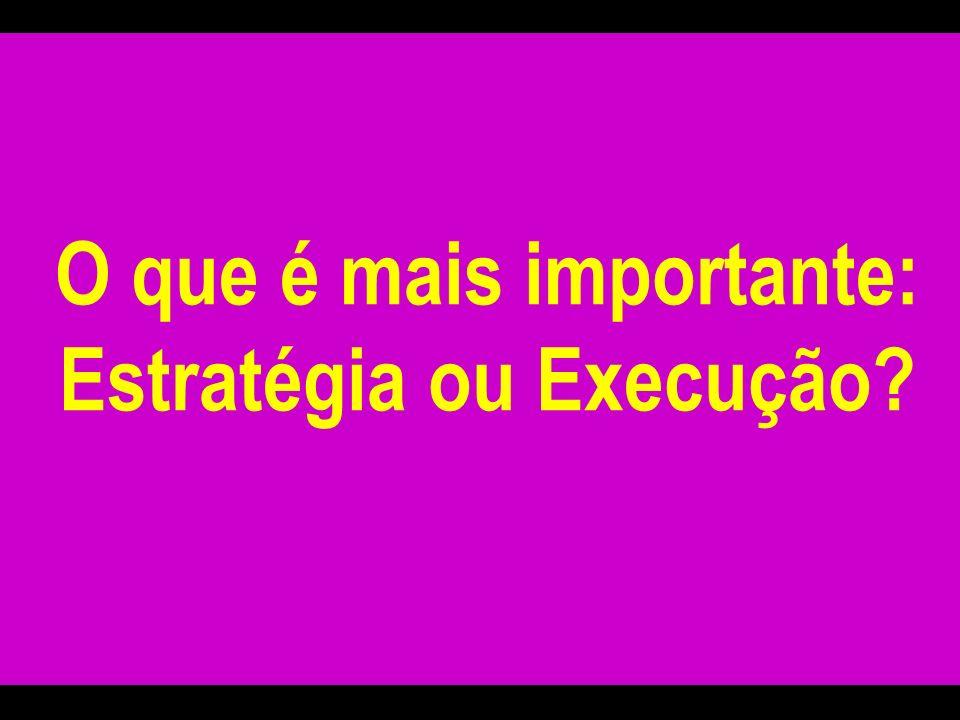 O que é mais importante: Estratégia ou Execução?