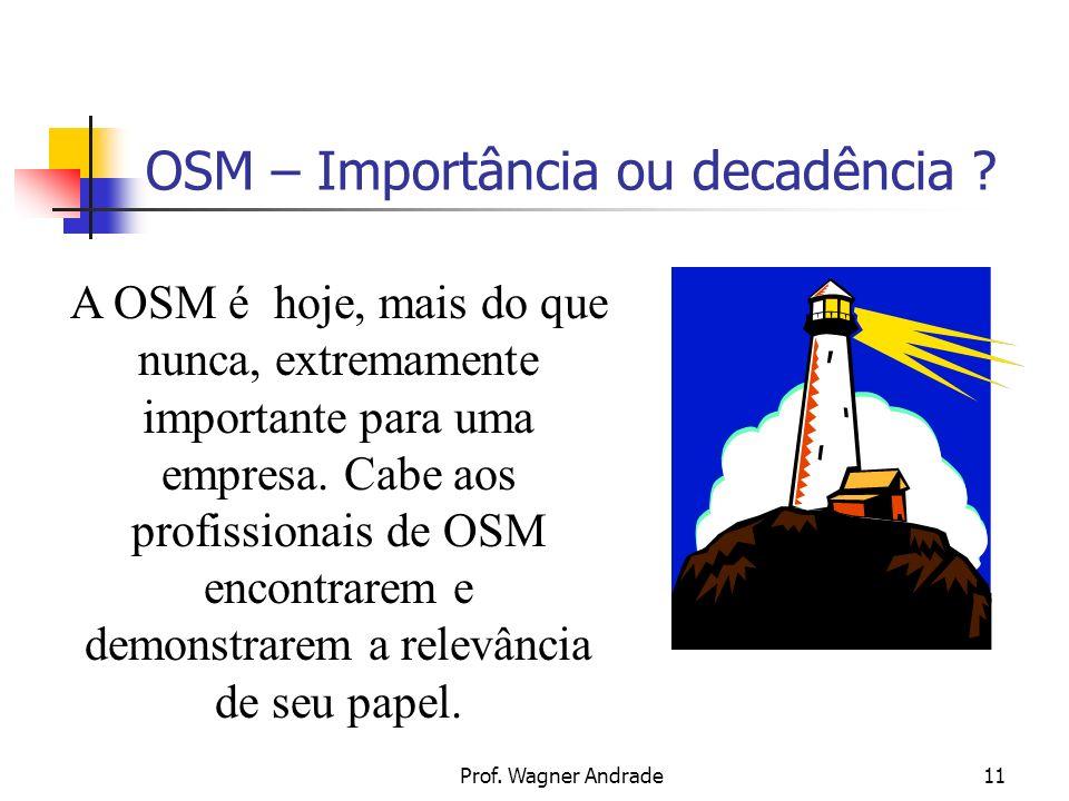 Prof.Wagner Andrade11 OSM – Importância ou decadência .