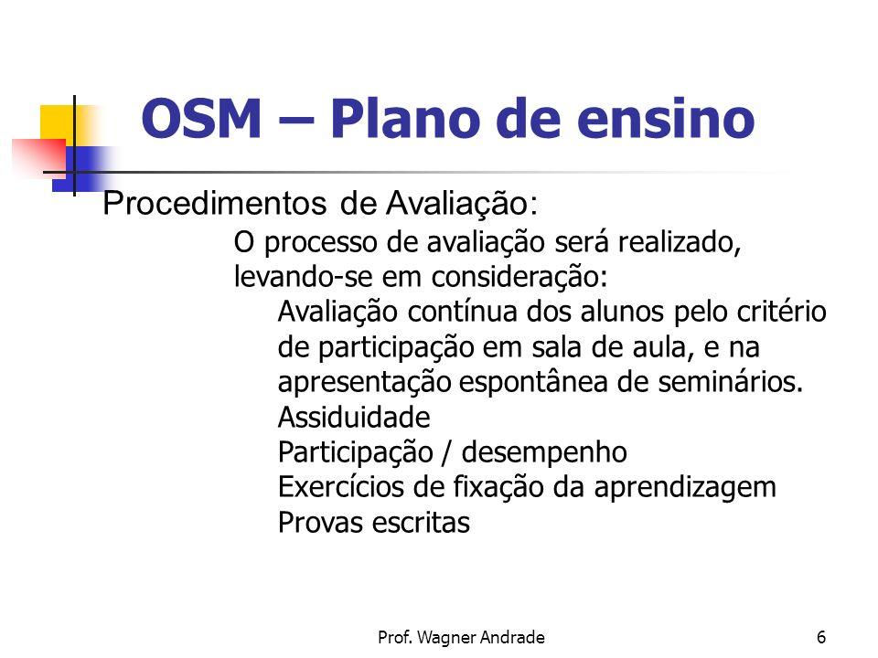 7 OSM – Plano de ensino BBibliografia CURY, A.