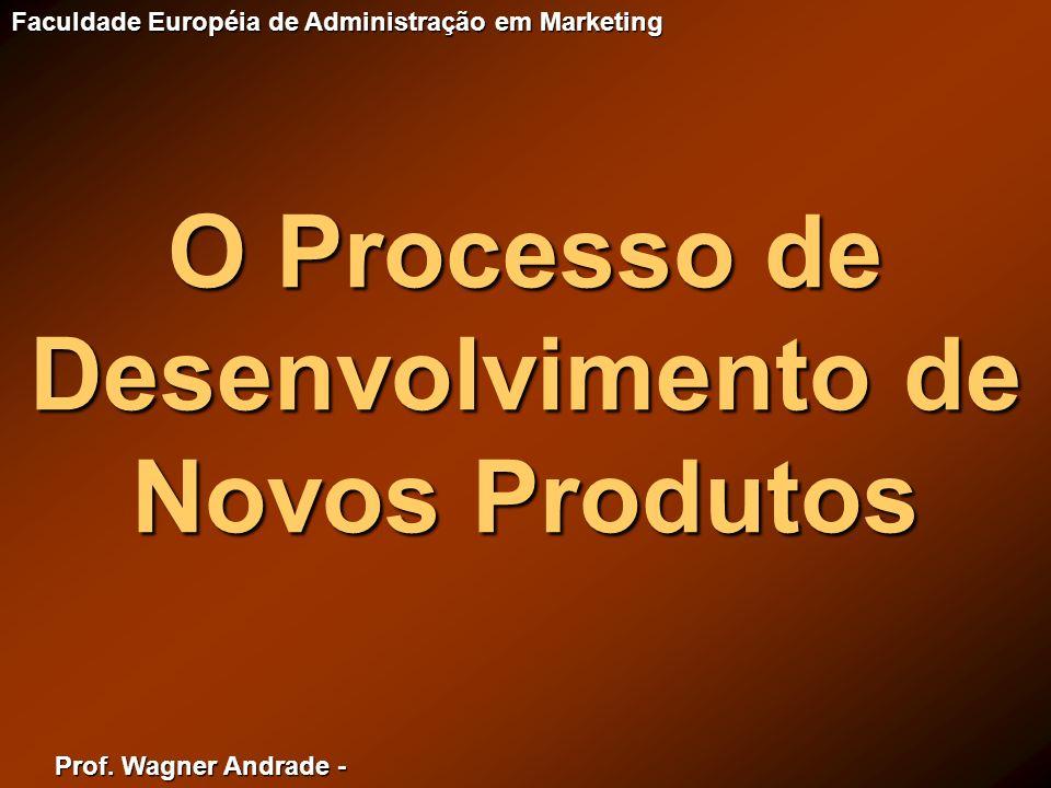 Prof. Wagner Andrade - Faculdade Européia de Administração em Marketing O Processo de Desenvolvimento de Novos Produtos