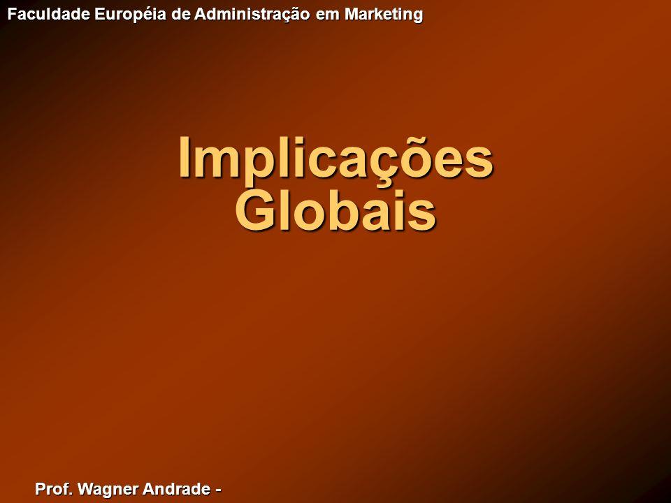 Prof. Wagner Andrade - Faculdade Européia de Administração em Marketing Implicações Globais
