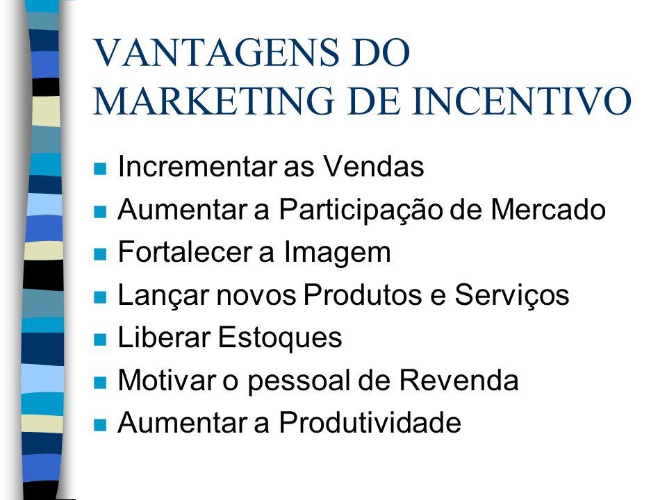 OBJETIVO O grande objetivo do Marketing de Incentivo é o de superar marcas, gerar retorno, trazer resultados acima dos níveis esperados.