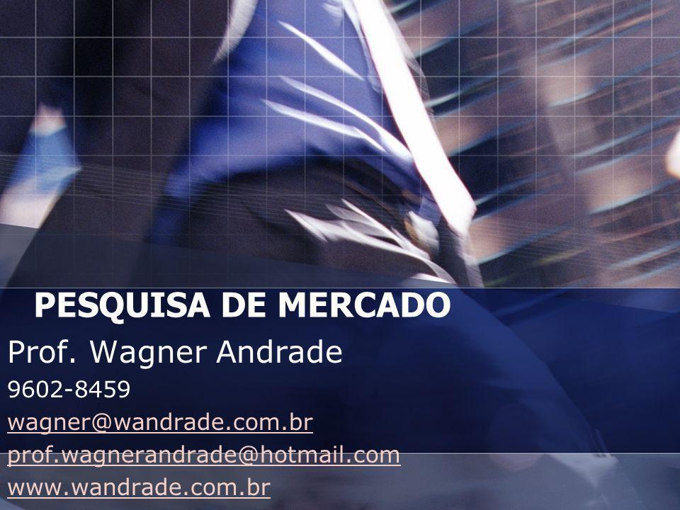 PESQUISA DE MERCADO Prof. Wagner Andrade 9602-8459 wagner@wandrade.com.br prof.wagnerandrade@hotmail.com www.wandrade.com.br