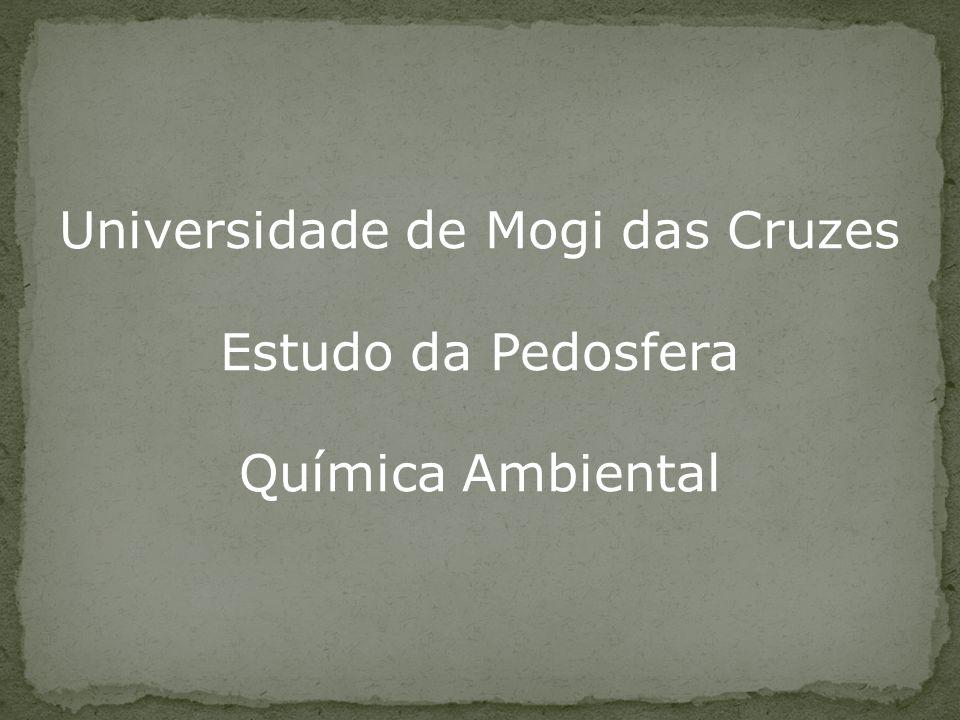 Universidade de Mogi das Cruzes Estudo da Pedosfera Química Ambiental
