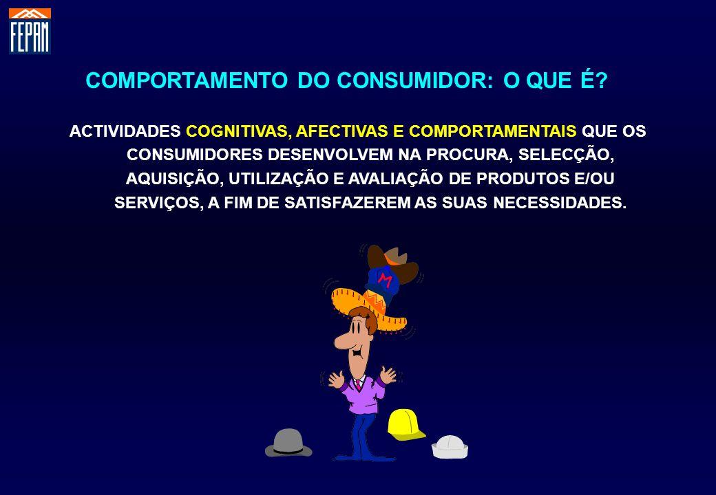 O Comportamento do Consumidor Consumer Behavior O Comportamento que os Consumidores manifestam na procura, na utilização, na avaliação de produtos ou serviços, que estes esperam vir a satisfazer as suas necessidades.