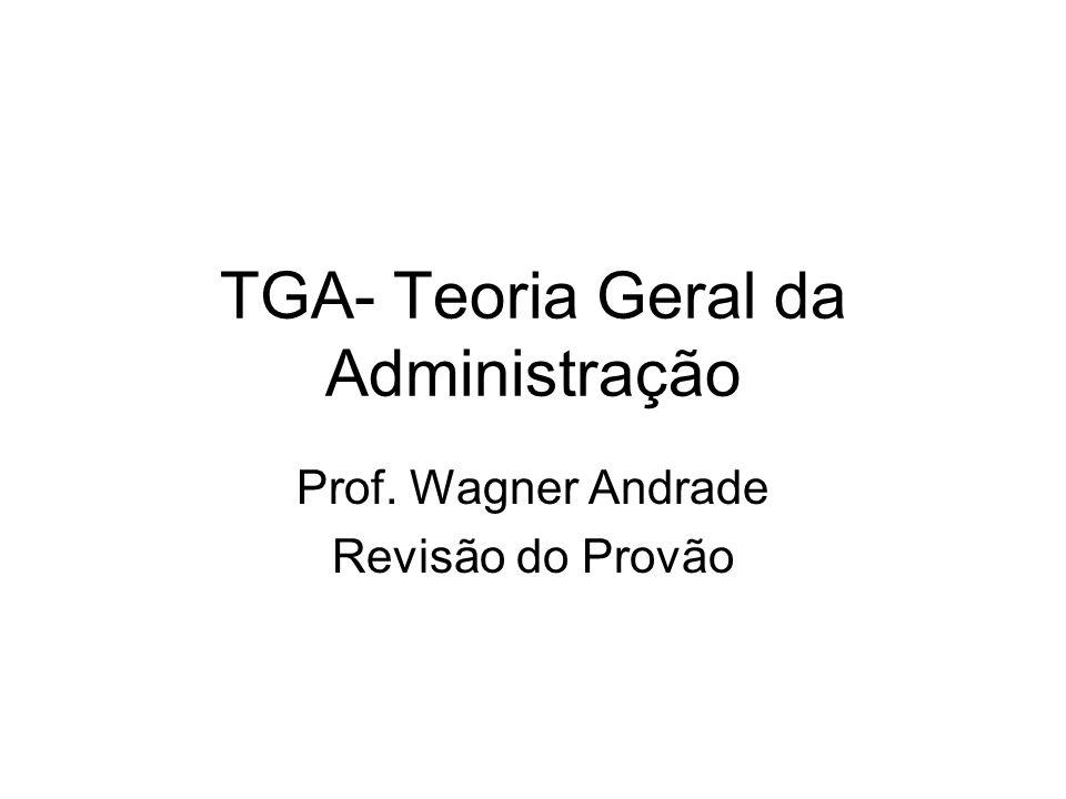 TGA- Teoria Geral da Administração Prof. Wagner Andrade Revisão do Provão