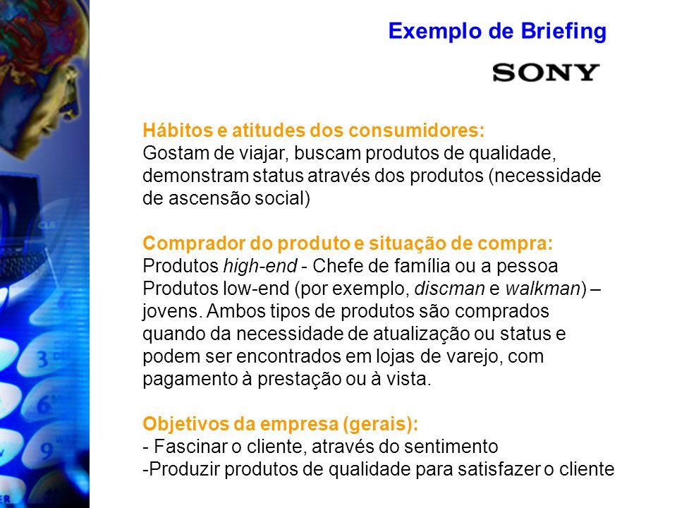Hábitos e atitudes dos consumidores: Gostam de viajar, buscam produtos de qualidade, demonstram status através dos produtos (necessidade de ascensão s