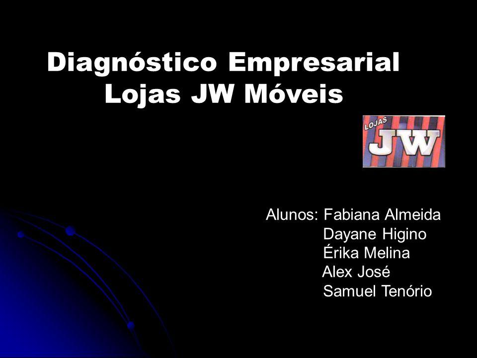 Diagnóstico Empresarial Lojas JW Móveis Alunos: Fabiana Almeida Dayane Higino Érika Melina Alex José Samuel Tenório