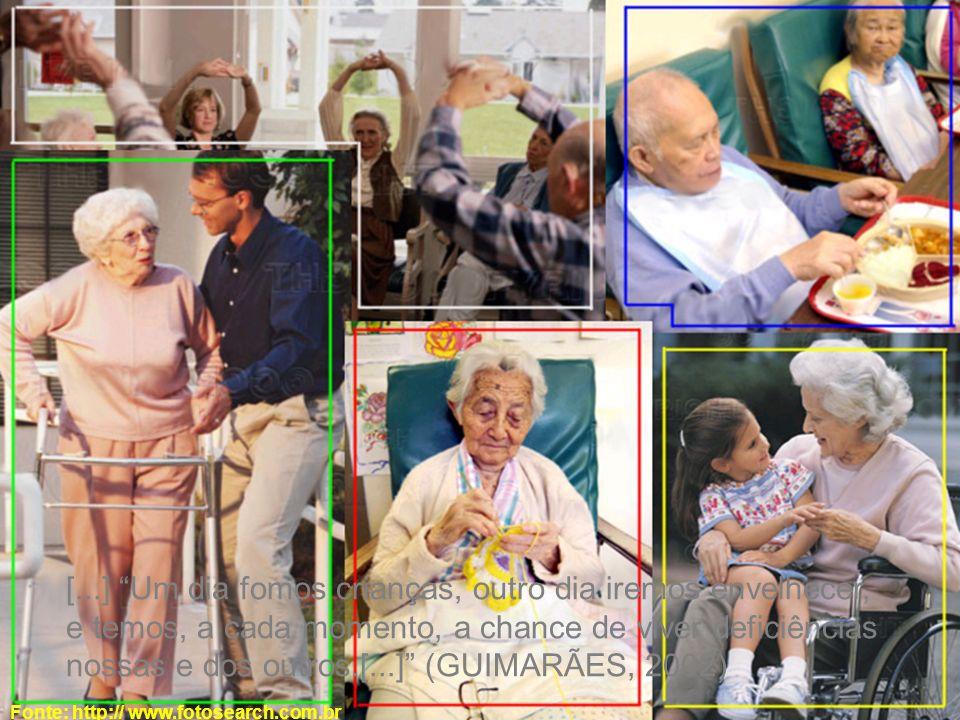 Fonte: http:// www.fotosearch.com.br [...] Um dia fomos crianças, outro dia iremos envelhecer, e temos, a cada momento, a chance de viver deficiências