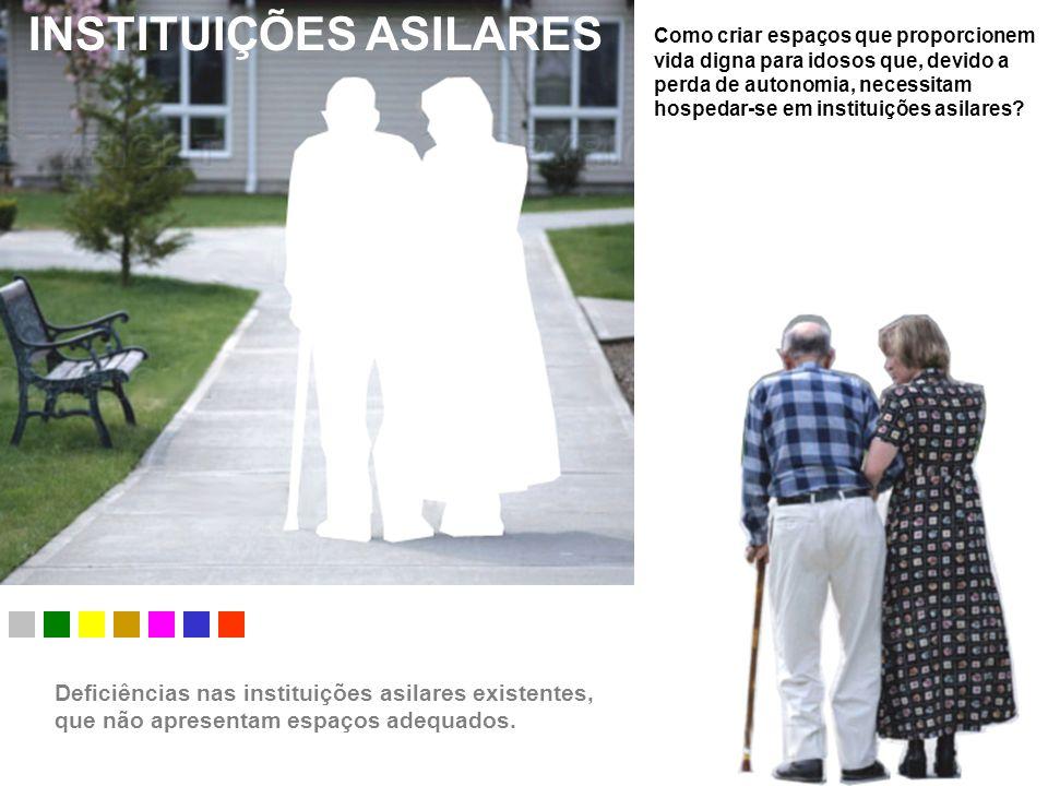 INSTITUIÇÕES ASILARES Como criar espaços que proporcionem vida digna para idosos que, devido a perda de autonomia, necessitam hospedar-se em instituiç