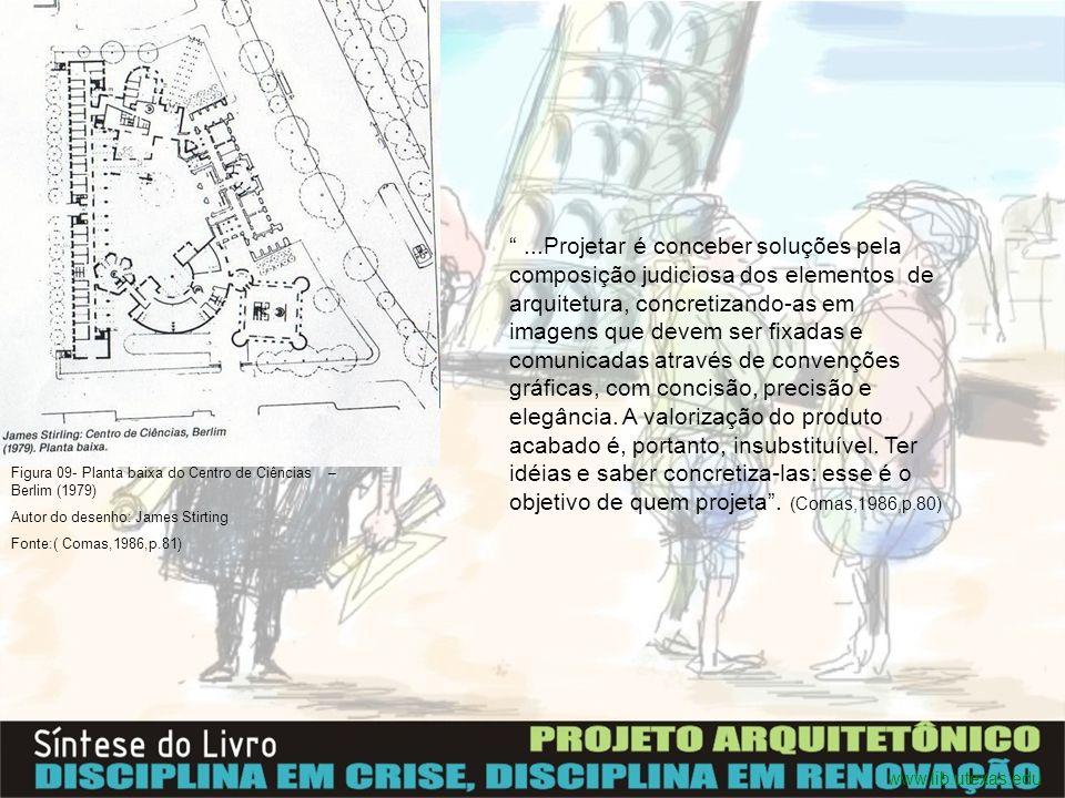 ...Projetar é conceber soluções pela composição judiciosa dos elementos de arquitetura, concretizando-as em imagens que devem ser fixadas e comunicada