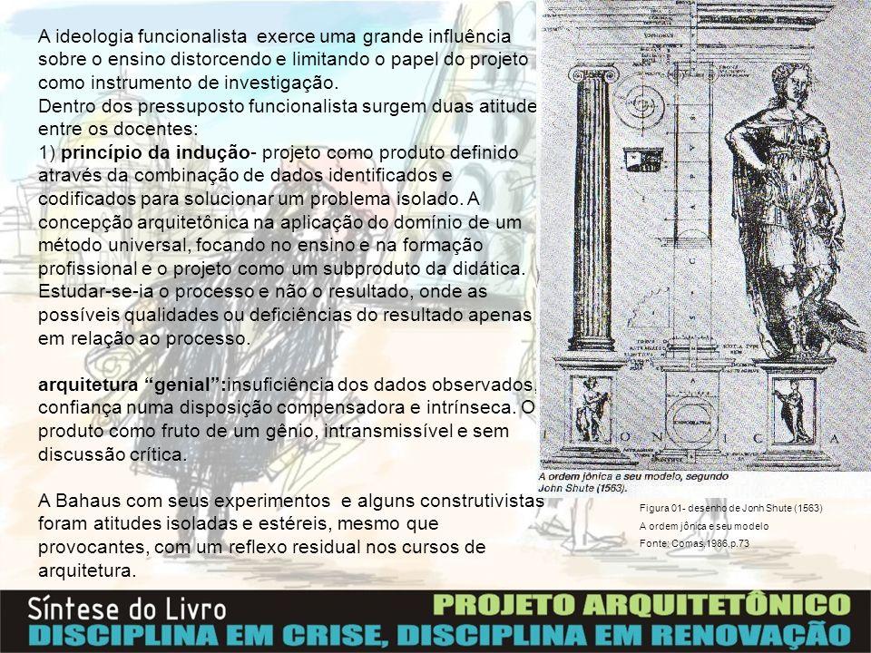 Princípios gerais – retomada no desenvolvimento do ensino da arquitetura: -...A arquitetura é um ofício que pressupõe o reconhecimento da especificidade da disciplina e o domínio dos meios de expressão que lhe são inerentes...