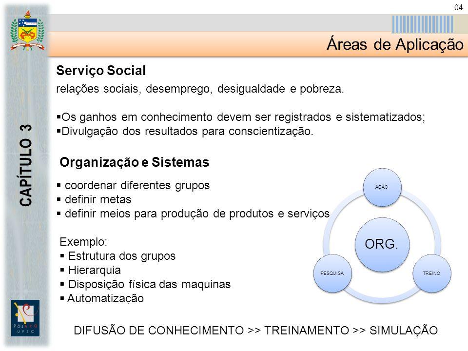 Áreas de Aplicação CAPÍTULO 3 Serviço Social relações sociais, desemprego, desigualdade e pobreza.