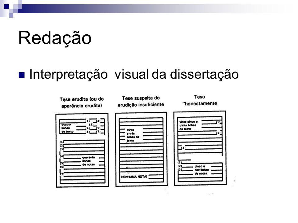 Redação Interpretação visual da dissertação