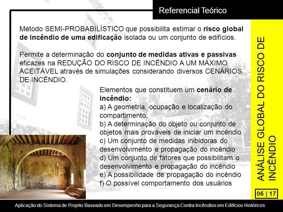06 | 17 Referencial Teórico Aplicação do Sistema de Projeto Baseado em Desempenho para a Segurança Contra Incêndios em Edifícios Históricos Método SEM