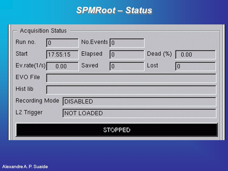 Alexandre A. P. Suaide SPMRoot – Status