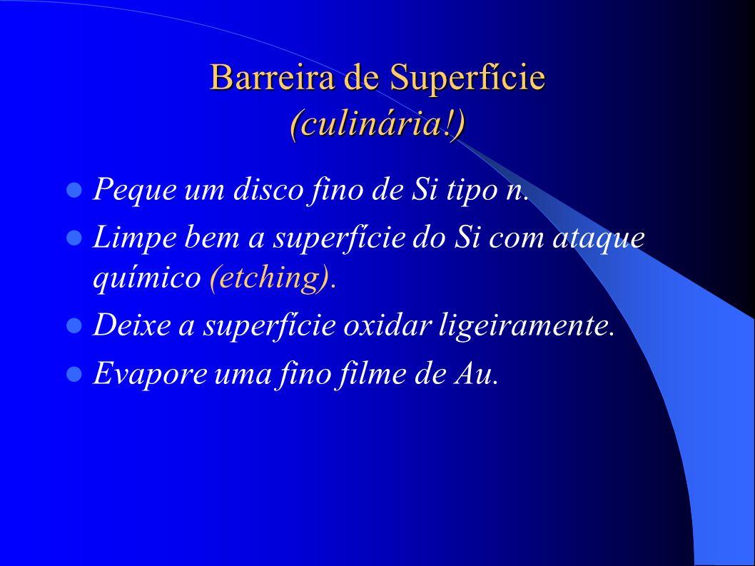 Barreira de Superfície (culinária!) Peque um disco fino de Si tipo n.
